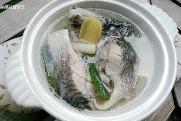 清炖鲈鱼汤的做法