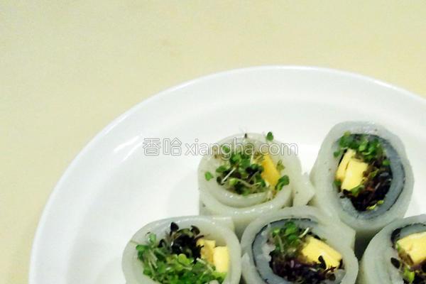 河粉芽寿司的做法