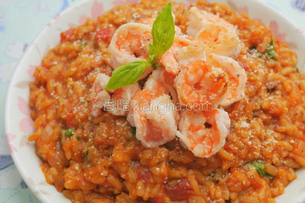 鲜虾番茄炖饭的做法