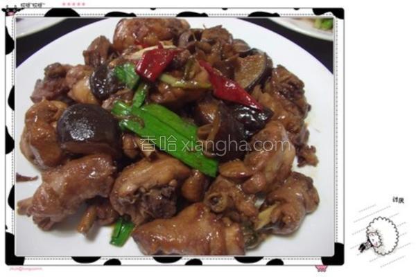 香菇蒜苗闷烧鸡的做法