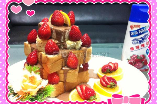 人气草莓蜜糖吐司的做法