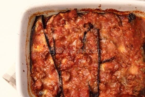 焗烤肉酱千层茄子的做法
