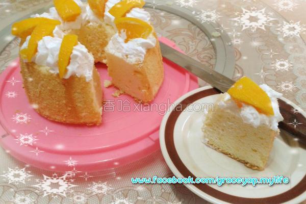 香橙戚风蛋糕的做法