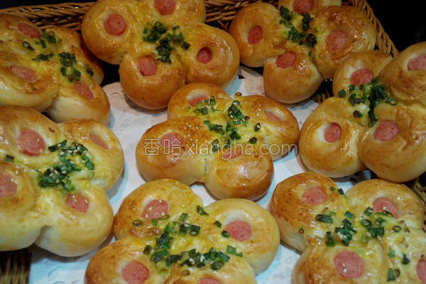 葱花热狗面包的做法
