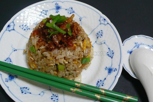 樱花虾蛋炒饭的做法