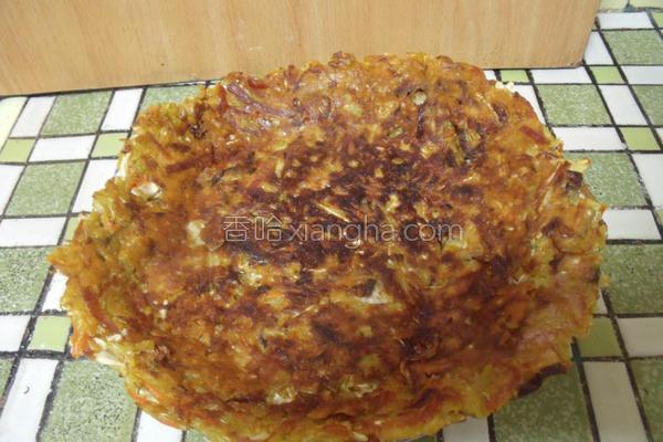 咖哩蔬菜煎饼的做法