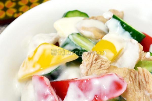 蜂蜜酸奶鸡肉沙拉的做法