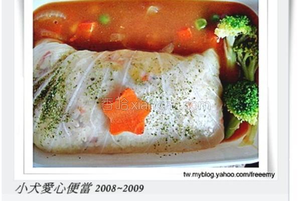 高丽菜卷意式炖饭的做法