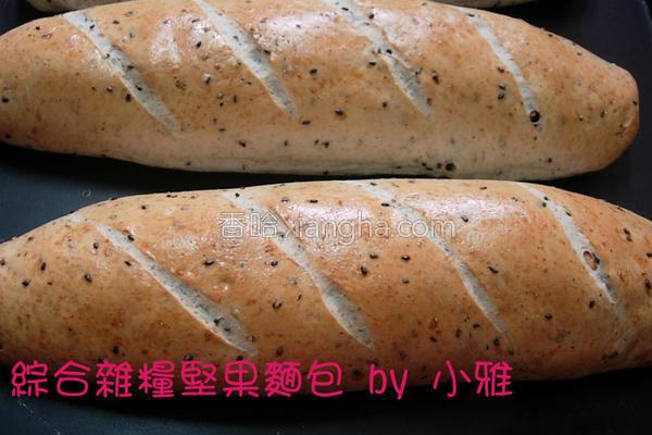 综合杂粮坚果面包的做法