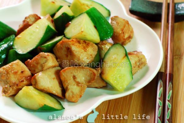 小黄瓜炒鸡肉的做法