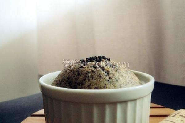 黑芝麻杯子蛋糕