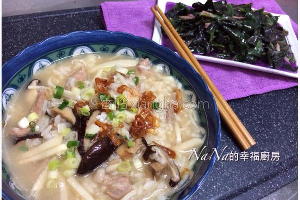 竹笋粥的做法
