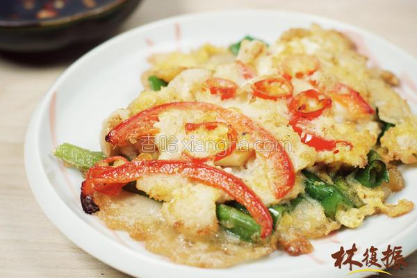 韩风蟹肉葱煎饼的做法