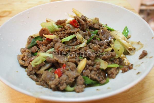 蚝油牛肉肉燥的做法
