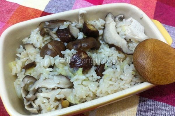 栗子杂炊饭的做法