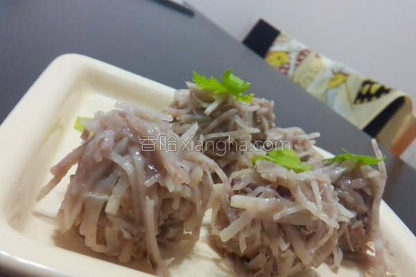 芋丝肉丸的做法