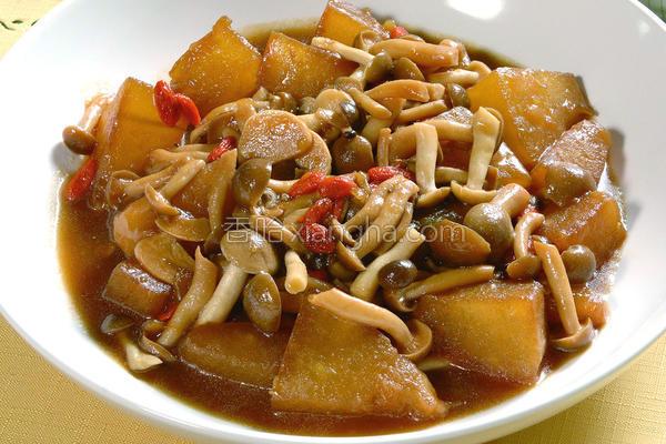 菇菇烧冬瓜的做法