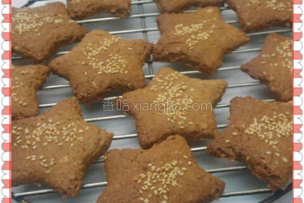 芝麻燕麦脆饼的做法