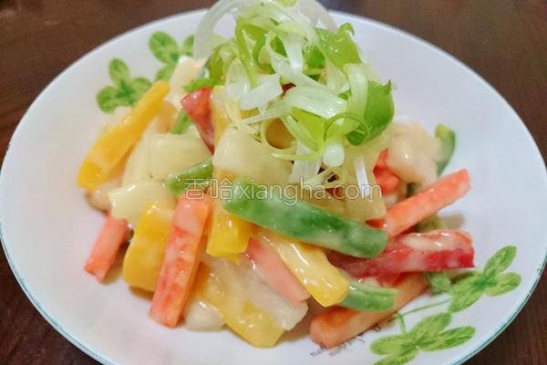 彩椒拌萝卜的做法