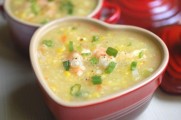 鲜虾玉米浓汤