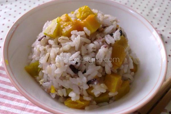 十谷米南瓜饭的做法