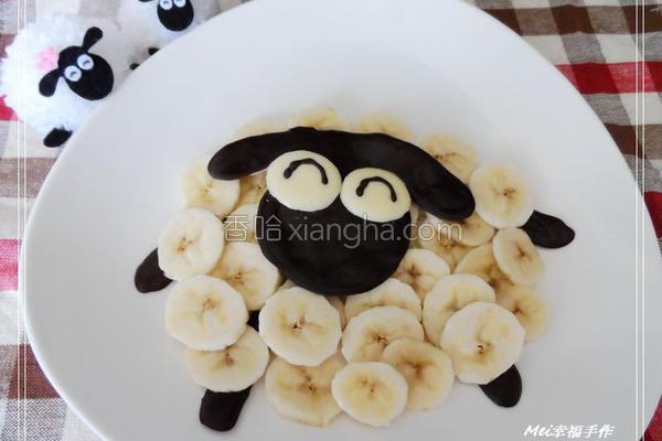 香蕉巧克力的做法