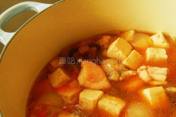辣味豆腐炖鸡的做法