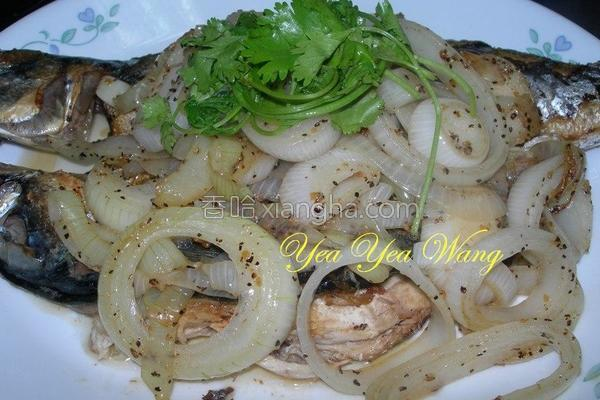 洋葱鲭鱼的做法