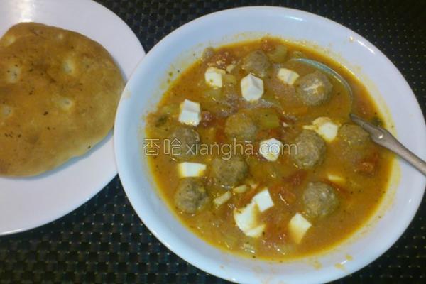 番茄起司牛肉丸汤的做法