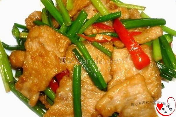 韭菜花炒猪排的做法