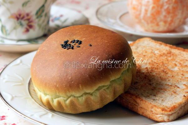 抹茶红豆面包的做法