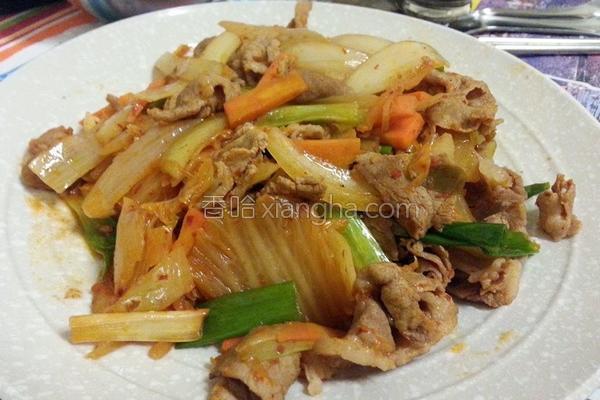 炒泡菜猪肉的做法