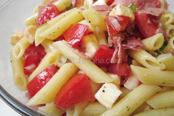 番茄凉拌意大利面的做法