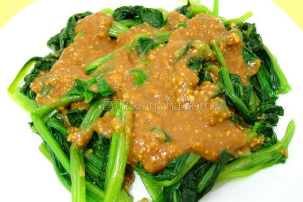 花生酱菠菜的做法
