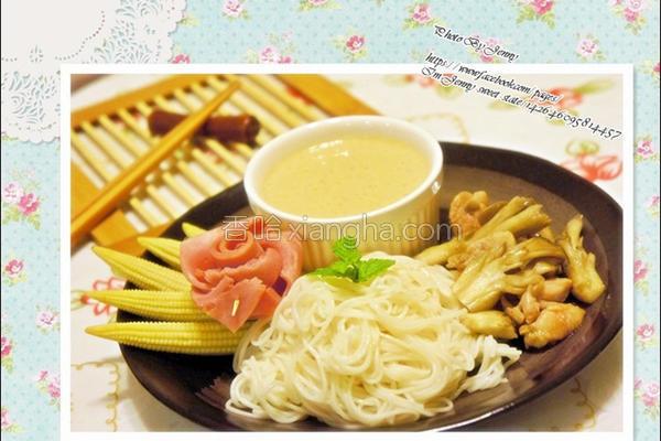 舞菇豆腐沾面的做法