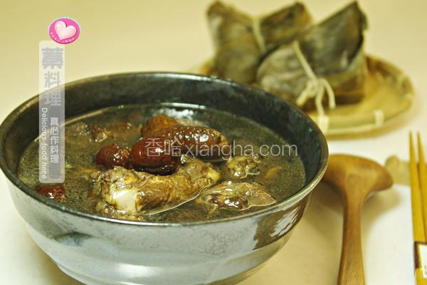 凉粉草鸡汤