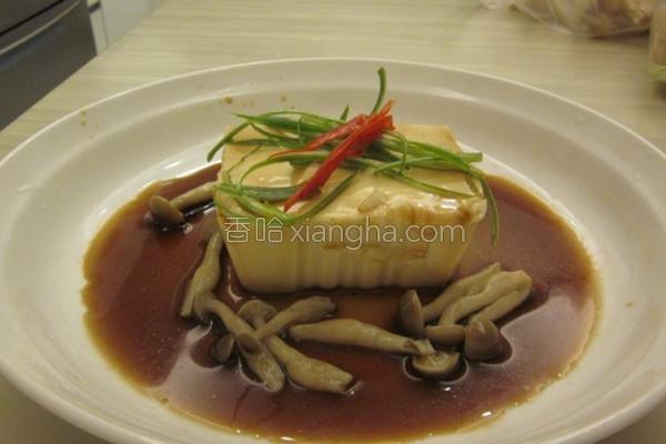 菇菇凉拌豆腐的做法
