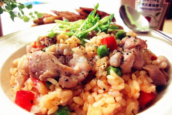 香浓茄汁嫩鸡炖饭的做法