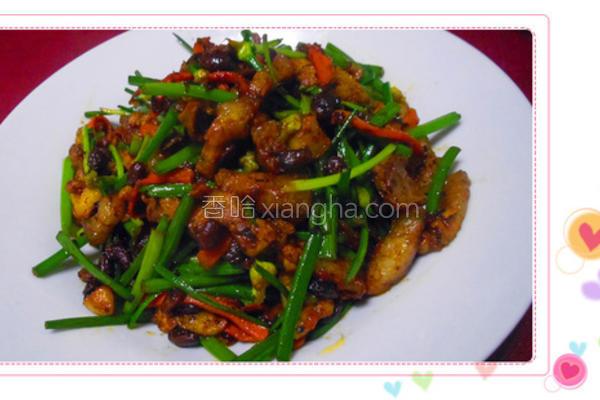 豆豉炒韭菜花的做法