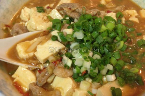 猪肉片麻婆豆腐的做法
