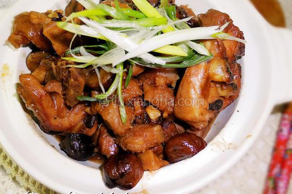 芋头栗子焖鸡的做法