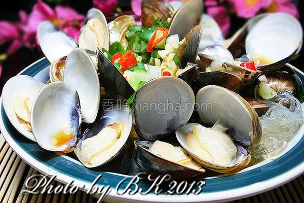 鲜味蛤蜊蒸粉丝的做法
