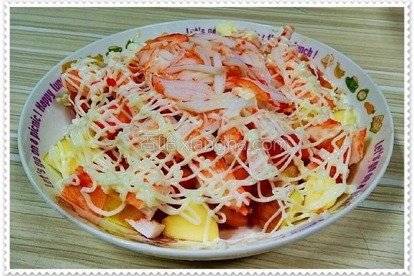 火红沙拉的做法