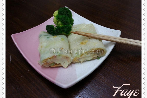 鲔鱼起司蛋饼的做法