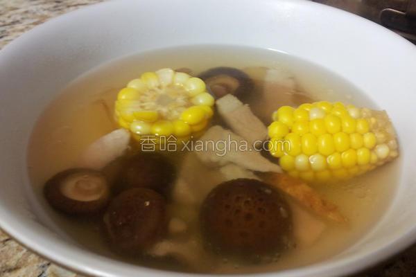 玉米香菇猪肉汤的做法