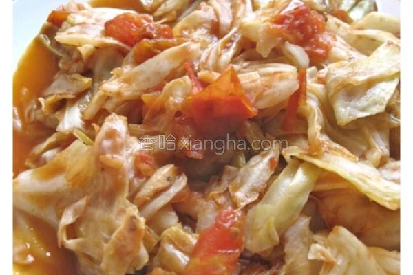 番茄高丽菜的做法