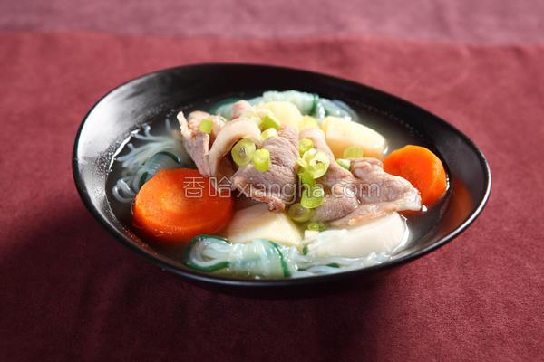 猪肉味噌汤的做法