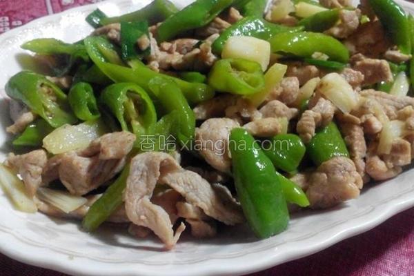 糯米椒炒猪肉的做法