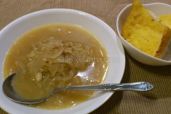 洋葱浓汤的做法