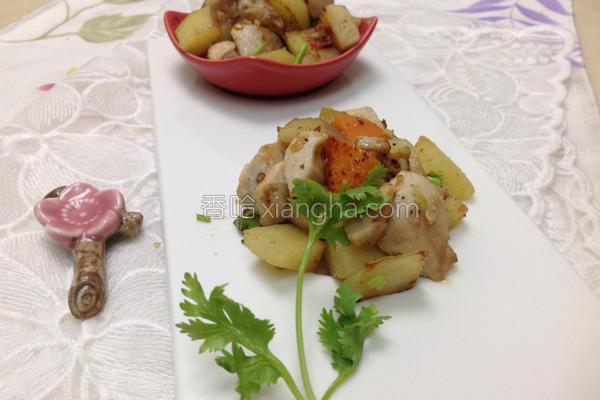 鸡肉坚果酱马铃薯的做法